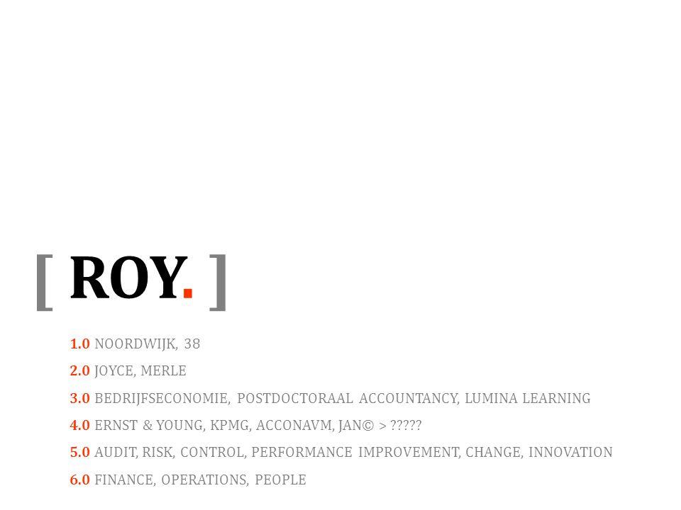 [ ROY. ] 1.0 NOORDWIJK, 38 2.0 JOYCE, MERLE